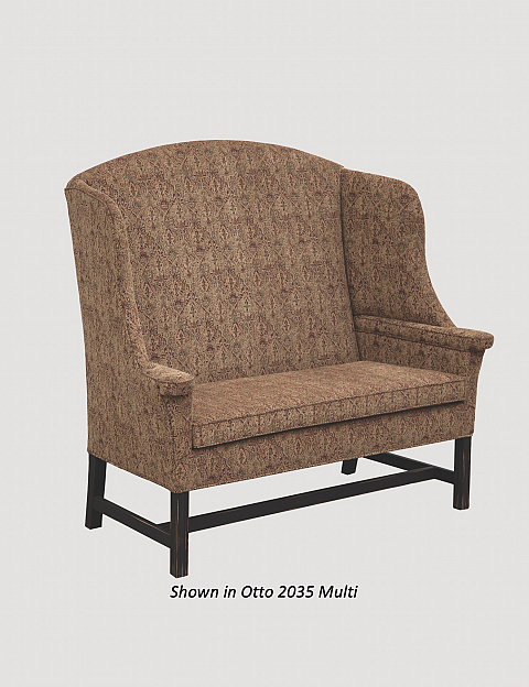 Public House Settle Nana S Farmhouse, Town And Country Primitive Upholstered Furniture